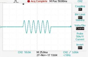 Turbo OFF, Short 100ms 37.5A The actual test waveform