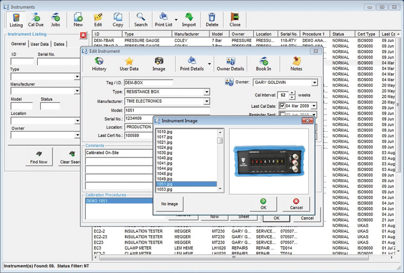 Calbench Calibration Benches Bench Software