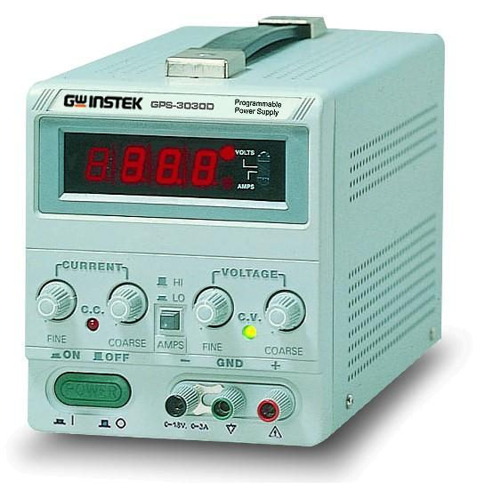 Instek GPS-3030DD: Light and Compact Design - 0.01% High Regulation - Constant Voltage and Constant Current Operation - Series or Parallel Operation Function - Remote Control for External Programmable - Internal Select for Continuous or Dynamic Load - Low Ripple and Noise - Overload and Reverse Polarity protection - Optional: European Jack Type Terminal