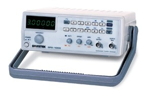 The SFG-1000 Series, an economic function generator with high accuracy and high stability output, are designed based on the DDS (Direct Digital Synthesized) technology embedded in a large scale FPGA.  The 3MHz frequency range and the output waveform selection of Sine, Square, Triangle and TTL available in the SFG-1000 Series adequately provide the fundamental functions to ensure high confidence in test results. The DDS technology at an affordable price gives a high value solution to the users who need a signal source for accurate but simple measurement applications.