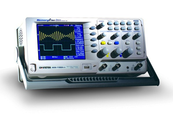 The GDS-1072A-U series provide a unique solution. Operating at 70 MHz with a real-time sampling rate of 1GSa/s, the GDS-1072A-U employs MemoryPrime technology . Using MemoryPrime technology, the GDS-1072A-U is able to overcome the problems associated with memory constraints. High sample rates, rarely found in traditional DSOs, can be maintained over longer periods of time, without effecting performance.