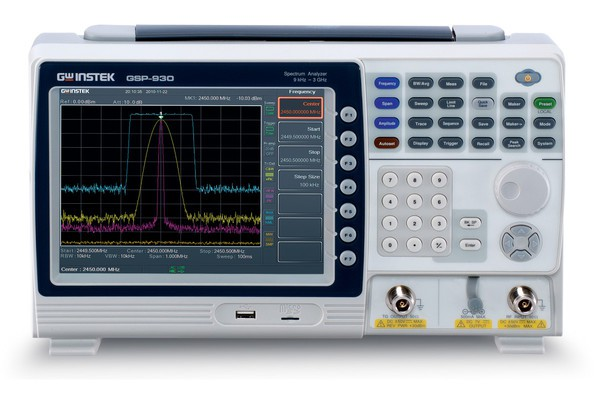 GSP-930 is a 3GHz Spectrum Analyzer designed upon a new generation platform. The high stability, large screen display, light weight and compact size of GSP-930 benchmark a new standard for 3GHz spectrum analyzer in the market. Its advanced features, Spectrogram and Topography, greatly expand the application range and elevate the importance of a spectrum analyzer in the role as the irreplaceable RF analysis instrument.
