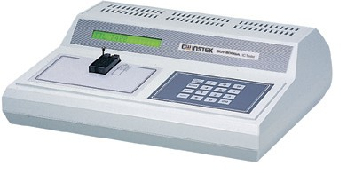 Bench-Top Digital IC Tester.  The GUT-6000B is a desktop digital IC tester. Oriented toward automating testing tasks, the GUT-6000B contains high-end features such as auto-search and loop testing. Automated processes provide an intelligent and continuous process for detecting defective ICs. Self-diagnosis functions and over-load protection mechanisms make the GUT-6000A close to maintenance-free, releasing users from unnecessary hassles. The wide device coverage includes the 1800 series as well as the ubiquitous TTL and CMOS, providing a one-size fits-all solution for an IC testing bench area.