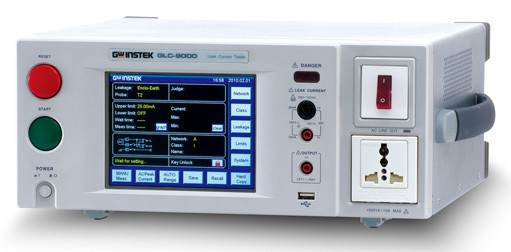 The GLC-9000, leakage current tester, is used to perform leakage current (or called touch current) tests on medical electrical (IEC 60601-1) and general purpose electric & electronic (IEC 60990) equipment. This tester engages with nine measurement networks (or called Measuring Device) to provide the simulation of human body while the EUT (equipment under test) is taking a leakage current testing in compliance with the specific standards or regulations such as IEC, UL, JIS...etc..