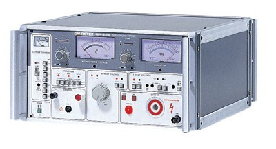 500VA, Withstanding Voltage(AC)/Insulation Tester.  The GPI-625 is a simple 2-in-1 (AC Withstanding / Insulation Resistance) analog safety tester geared toward accurate hazard-free automatic testing. Auto testing can be set to run withstanding and insulation resistance testing in any preferred order. The optional GHT-106R remote controller can be used to remotely run the timer and tests. The GPI-625 has dedicated input/output terminals and a current monitor terminal for external device monitoring. Equipped with a large 500VA AC capacity, the GPI-625 is ideal in a test & analysis environment for testing electronic equipment, components, and insulation materials.