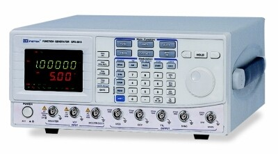 Instek GFG-3015: Frequency Range 0.01Hz~15MHz - Maximum Frequency Resolution 10mHz - Frequency Accuracy 0.02% /- 5 Count - Dual Displays Indicate Frequency and Amplitude - Built-In 6 Digit Counter with INT/EXT Function up to 150MHz/High Resolution - Output Waveforms Sine, Square, Triangle, Ramp, Pulse, AM, FM, Sweep, TTL, Trigger and Gate or Burst - INT/EXT AM/FM Modulation - LIN/LOG Sweep Mode - Variable DC Offset Control - VCF for 100:1 EXT Frequency Control - GCV Output for Synchronization - SYNC Output - Output Overload Protection - RS-232C Interface Standard