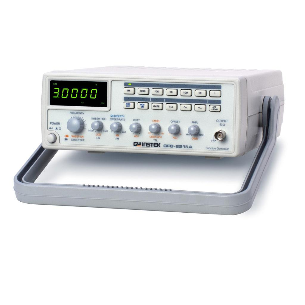 The GFG-8200A product family offers a complete solution in generating signals at the 3MHz/5MHz ranges. All models are embedded with standard functions such as TTL/CMOS/Ramp output, External Voltage Controlled Frequency (VCF), and built-in 6-digit counter (except for GFG-8215A).