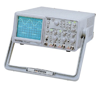 The GOS-6031 Series Analog Oscilloscopes provides a remarkable combination of high performance and compact design in bandwidth at 50 MHz. Coupled with various trigger functions, waveforms can be acquired and observed in diverse application fields. Signals can be magnified by a ratio of x5, x10 and x20 in the use of the ALT MAG function. Together with the Cursor Readout and Frequency Counter functions , the GOS-6031 Series offers tremendous value for your investment in testing and analysis.