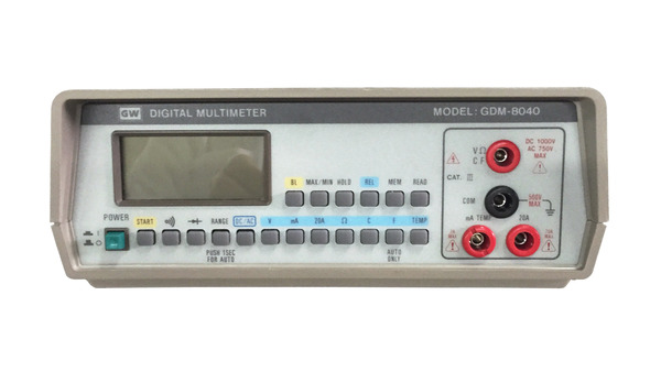 """0.5"""" LCD display with 42 segment Bar graph and back lighting Auto and Manu range operation 500V fuse rating on current ranges (20A range Option) Relative, MAX./MIN., Memory read and Data Hold Multi-functions, ACV, DCV, ACA, DCA, R, C, Hz, Continuity Beeper and Diode Test Auto power off function at battery mode Built-in charger with NI-CAD batteries (Option BP-01) AC True RMS"""