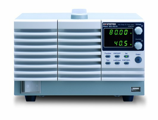 The PSW 30-108 is a single output multi-range programmable switching DC Power Supply covering a power range up to 1080W. The multi-range feature allows the flexible and efficient configuration of voltage and current within the rated power range. As the PSW 30-36 can be connected in series for maximum 2 units or in parallel for maximum 3 units, the capability of connecting multiple PSW units for higher voltage or higher current output provides a broad coverage of applications. With the flexibility of multi-range power utilization and series/parallel connection, the PSW 30-108 significantly reduces the user's investment for various power supply products to accommodate the projects with different power requirements.