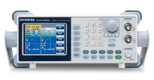GW Instek is launching AFG-2225, its first basic level dual-channel arbitrary function generator, which provides superior features in its class. Both channels are equipped with same characteristics to fit dual-signal applications such as differential or IQ signaling. The outstanding cost-performance value makes the AFG-2225 a practical instrument to accelerate the development process.