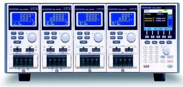 Satisfy All Your High Speed Load Simulation Needs  The PEL-2004A and PEL-2002A are multiple channel, programmable DC electronic loads with a modularized structure. The PEL-2000A Series is designed to meet the continuing shift toward high speed operation in today''s semiconductor market. As the power supply units, DC-DC converters, and batteries that drive semiconductor circuits to follow this shift, power supply design, quality inspection, and characteristic certification using high-speed performance loads have become necessary. The PEL-2000A Series includes two types of mainframes and 4 types of load modules to accommodate users requirements in a flexible manner. Any load module combination can be used with a mainframe to tailor a test system based on the number of channels, and the maximum load power, voltage and current of each channel. Multiple loads can be connected in parallel to provide a higher-power load to test higher power supply outputs. This flexibility significantly reduces the investment needed for future projects that have different power requirements. The PEL-2004A is a 4-slot mainframe with a master control unit to hold 4 load modules, while PEL-2002A is a 2-slot mainframe with master control unit to hold 2 load modules. When the PEL-2004A is configured with 4 load modules rated at 350W each, the PEL-2000A series is able to sink up to 1.4kVA of power.