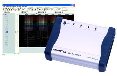 The GLA-1000 Series is a palm-sized PC based logic analyzer with functionality matching that of a desktop device. A maximum 32 channels, 32Mbits of data memory (GLA-1032), a 200MHz internal sampling rate and advanced trigger settings provide high accuracy and lengthy data analysis results. Features, such as Data-loss-less compression, Enable Qualifier, and Serial Bus Protocol Analyzer, provide you with a tool to adequately analyze today''s complex digital systems. All data and configurations can be saved into a PC for further data analysis. The GLA-1000 Series operates over a high speed USB 2.0 connection and is fully powered by the USB bus.