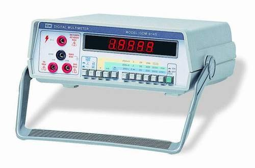 "Instek GDM-8145 (4 1/2 Digits): 6 Functions AC/DC Voltage, AC/DC Current, Resistance and Diode Test - Large 0.5"" Red LED Display - High Resolution 10microV, 10nA and 10mOhm - All Range with Protection Circuit - 0.03% DCV Accuracy - Auto Zero Circuit - 20A High Current Range - 1200V High Voltage Range - AC or AC DC True R.M.S"