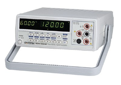 Instek GDM-8246: 50000 Counts Display - Multi-Function ACV, DCV, ACA, DCA, R, C, Hz, Continuity Beeper, Diode Test, Max/Min, REL, Auto Hold, dBm, Compare - Dual Display Indicate ACV and Hz, DCV (ACV) and dBm or DCV and ACV Ripple - Manual or Auto Ranging - 0.02% DCV Accuracy - ACV Measuring Frequency Up to 100kHz - 20A Current Range with High Energy Fuse Protection - Auto-Recall the Setting Upon Power ON - AC True RMS or AC DC True RMS - RS-232C Interface - Option: GPIB Interface