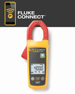 A fully functional true-rms current clamp meter that wirelessly relays measurements to other Fluke Connect™ enabled master units
