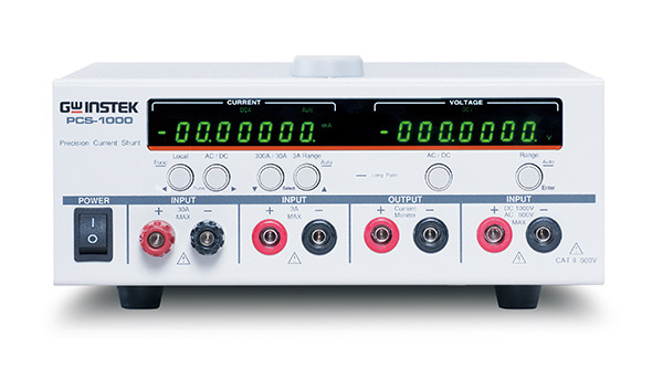 PCS-1000 is a High-Precision D.C. and A.C. Current Shunt Meter which carries built-in current shunts and high-accuracy current measurement circuits.