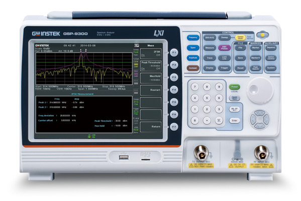 Spectrum Analyzer with a high C/P ratio, frequency range that stretches from 9kHz to 3 GHz, built-in measurement functions (AM/FM/ASK/FSK) and much more.