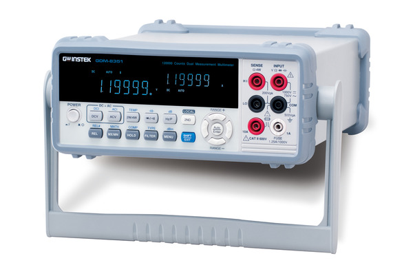 5 1/2 Digit Dual Measurement Multimeter, maximum 120,000 counts, 0.012% basic DC voltage accuracy and USB/RS232C connectors