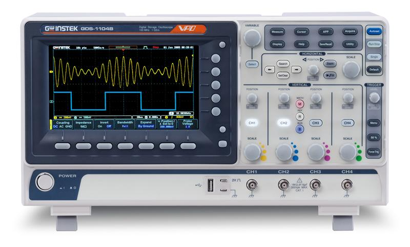 Digital Storage Oscilloscope : Mhz digital storage oscilloscope gw instek oscilloscopes