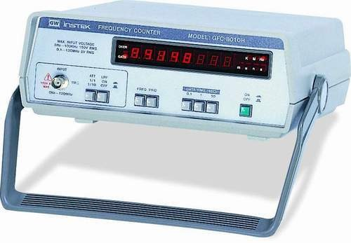 The GFC-8010H performs virtually most of the counting measurements required in laboratories, in terms of both period and frequency. 8 digits LED display with distinctive red color and overflow indicator provides fast and clear view. With easy operation of all functions neatly organized on the front panel, compact size suitable for both portable and bench-top usage, the GFC-8010H serves users as a handy reference.