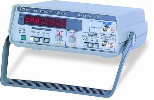 The GFC-8000 Series performs virtually all of the counting measurements required in laboratories, in terms of both period and frequency. A bright red 8 digit LED display with an included overflow indicator provides a clear view. Both models feature a stable time base with a maximum resolution of 100nHz and 10nS at 1Hz for frequency and period measurement, respectively. Gate time can be configured for fast response (5 digits/10ms) or accuracy (7 digits/s) for more control. For high frequency needs, the GFC-8270H can operate at up to 2.7GHz. The GFC-8000 Series features easy operation with a simple front panel interface, suitable for both portable and bench-top use.