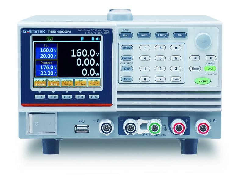 Single output channel, programmable and multi-range DC power supply