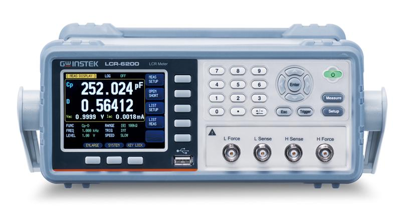 The LCR-6000 series has a test frequency range extending from 2kHz / 20kHz / 100kHz / 200kHz / 300kHz (maximum) and with 0.05% basic accuracy. The compact size design, 2U height and 1/2 rack, is one of the practical features of the series which is the optimum space saver suitable for either bench top or system rack. The compacted LCR-6000 series with abundant features is absolutely the excellent tool for R&D, production test, IQC, etc. on implementing each test stages for passive components.