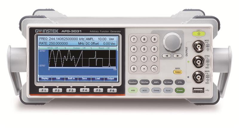 GW Instek rolls out the new AFG-3000 series arbitrary function generators, including 20MHz/30MHz single channel and dual channel models, designed to meet industry, scientific research, and education applications.