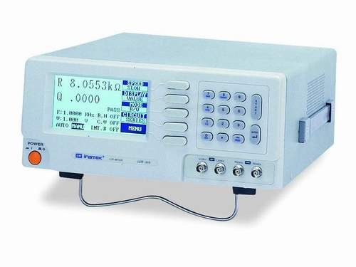 Instek LCR-816: Test Frequency: 100Hz~2kHz, Continuously Variable Frequencies - 0.1% Measurement Accuracy - 100 Sets Memory for Save/Recall of Setup State - R/Q, C/D, C/R, L/Q Test Modes - Absolute Value, Delta Value, and Delta % Measurement Display - 240 x 128 dot Matrix LCD Display - Test Condition and Test Result Shown on the Screen Simultaneously - Option: RS-232C (Including LCR-Viewer Software)