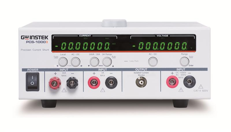 PCS-1000I high precision AC and DC shunt meter can simultaneously measure current and voltage with the maximum 6 1/2 measurement resolution.