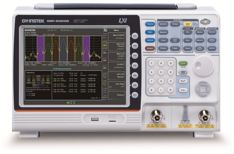 9kHz ~ 3 GHz Spectrum Analyzer with 0.025ppm Frequency Stability, Built-in Preamplifier and more than 20 measurement applications
