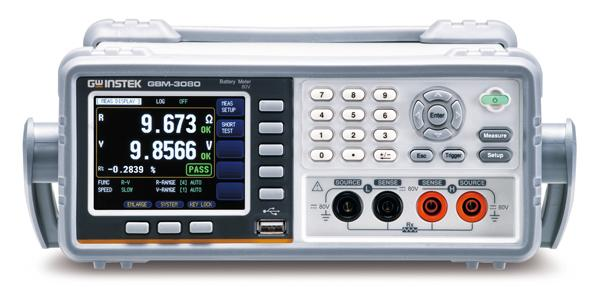 """GW Instek launches a new series of desktop battery tester, the GBM-3000 series, which uses AC 1kHz as the test signal and measures battery's voltage and internal resistance to 300V (GBM-3300) and 80V (GBM-3080). The series features 3.5"""" TFT LCD, 4-wire measurement method, high-resolution (6-digit voltage / 5-digit resistance) measurement display capability, and independent GO/NOGO determination of voltage and resistance, various communications interfaces, etc. to meet various types of battery measurements, ranging from single cell, battery cell, to the end product (battery), etc. so as to facilitate users in achieving accurate measurements at all stages of production."""