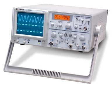 Instek GOS-630FC: Instek is announcing a brand new 30MHz Analog Oscilloscope, GOS-630FC, to the global market. Besides the functions of a basic oscilloscope, GOS-630FC is equipped with more useful features to create a new benchmark for the oscilloscopes within the same category. The new innovative functions, including LCD Readout Display, Frequency Counter, and Auto Time-Base setting, are provided as standard features of the product. GOS-630FC, with a bandwidth elevated to 30MHz and additional valuable features, is priced at the level of a fundamental oscilloscope. The add-on value without additional cost make GOS-630FC a most beneficial choice among the entry-level analog oscilloscopes available in the market today.