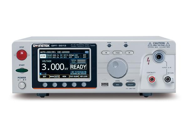 GW Instek introduces a new multi-channel withstanding voltage tester-the GPT-9500 series. This series has 2 models and each model has a built-in 8-channel scanner. The series meets safety regulations: IEC, EN, UL, CSA, GB, JIS and other safety regulations. The series aims at the needs of the main test items of general electronic components or winding components during routine tests.