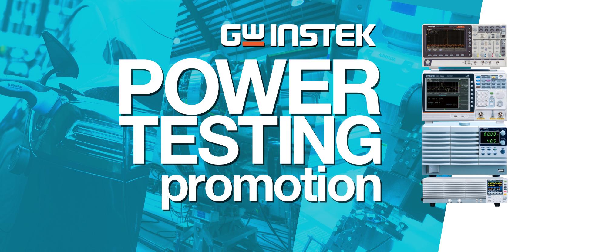 GW Instek Power Testing Promotion