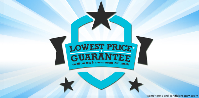 Lowest Price Guarantee on all our Test & Measurement Instruments