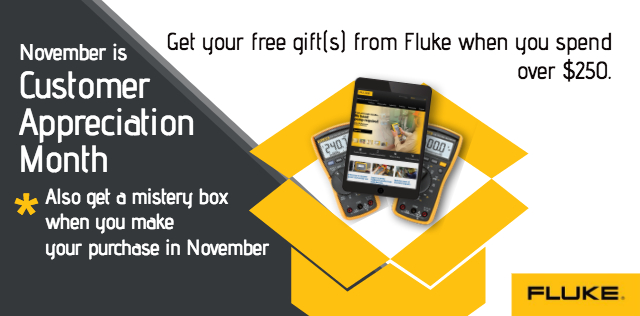 November is Customer Appreciation Month with Fluke